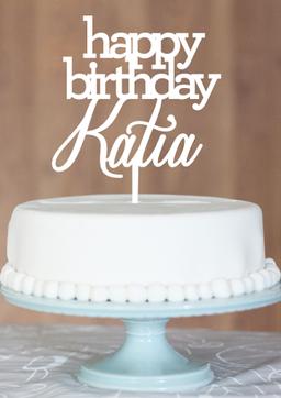 Happy Birthday Katia | Cake toppers, Homewares, Kids room ... Happy Room