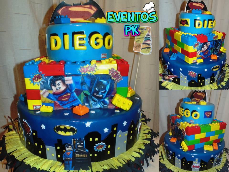 Eventos Pk Lego Batman Vs Superman Torta