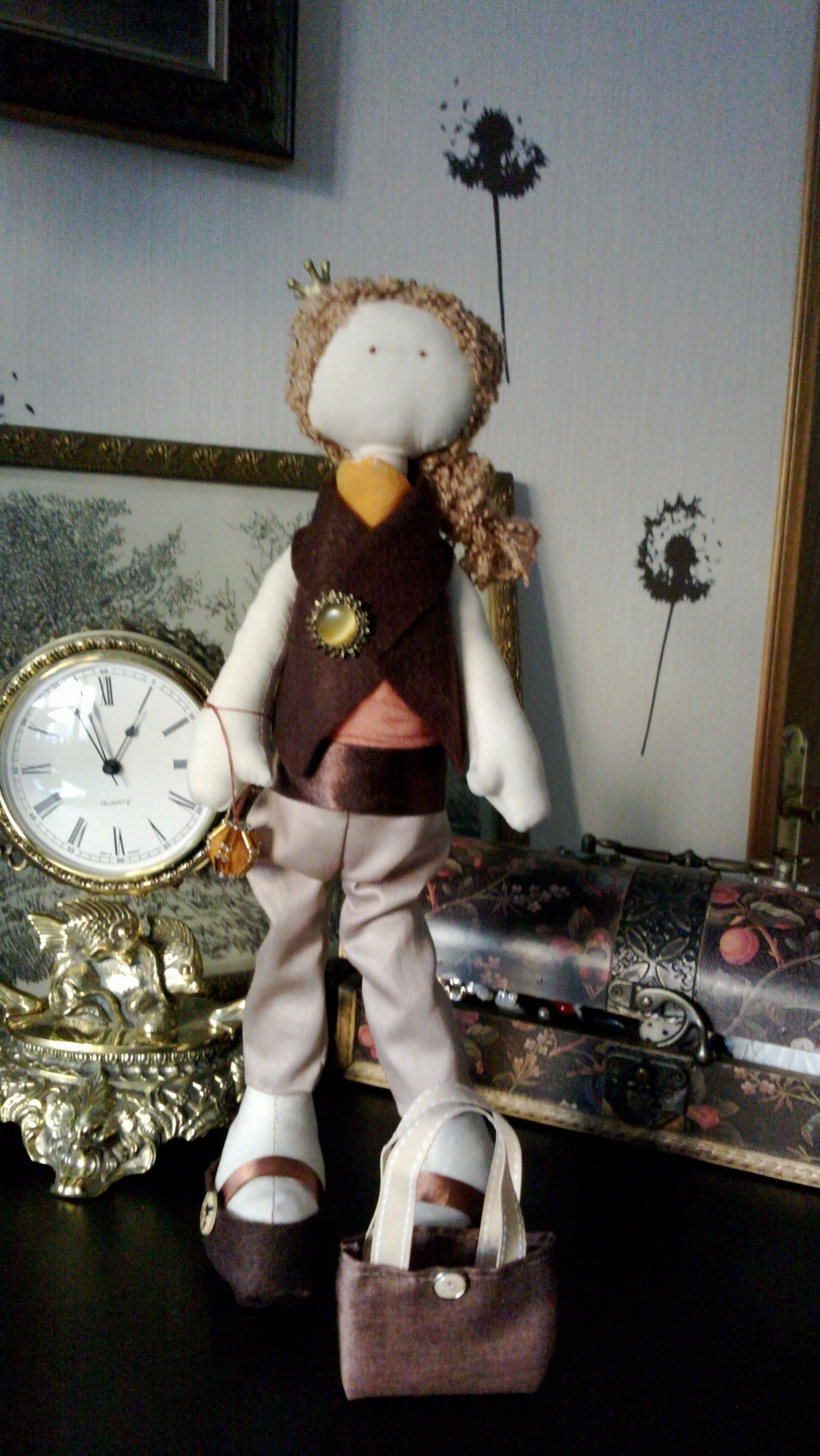 Интерьерная куколка своими руками 81