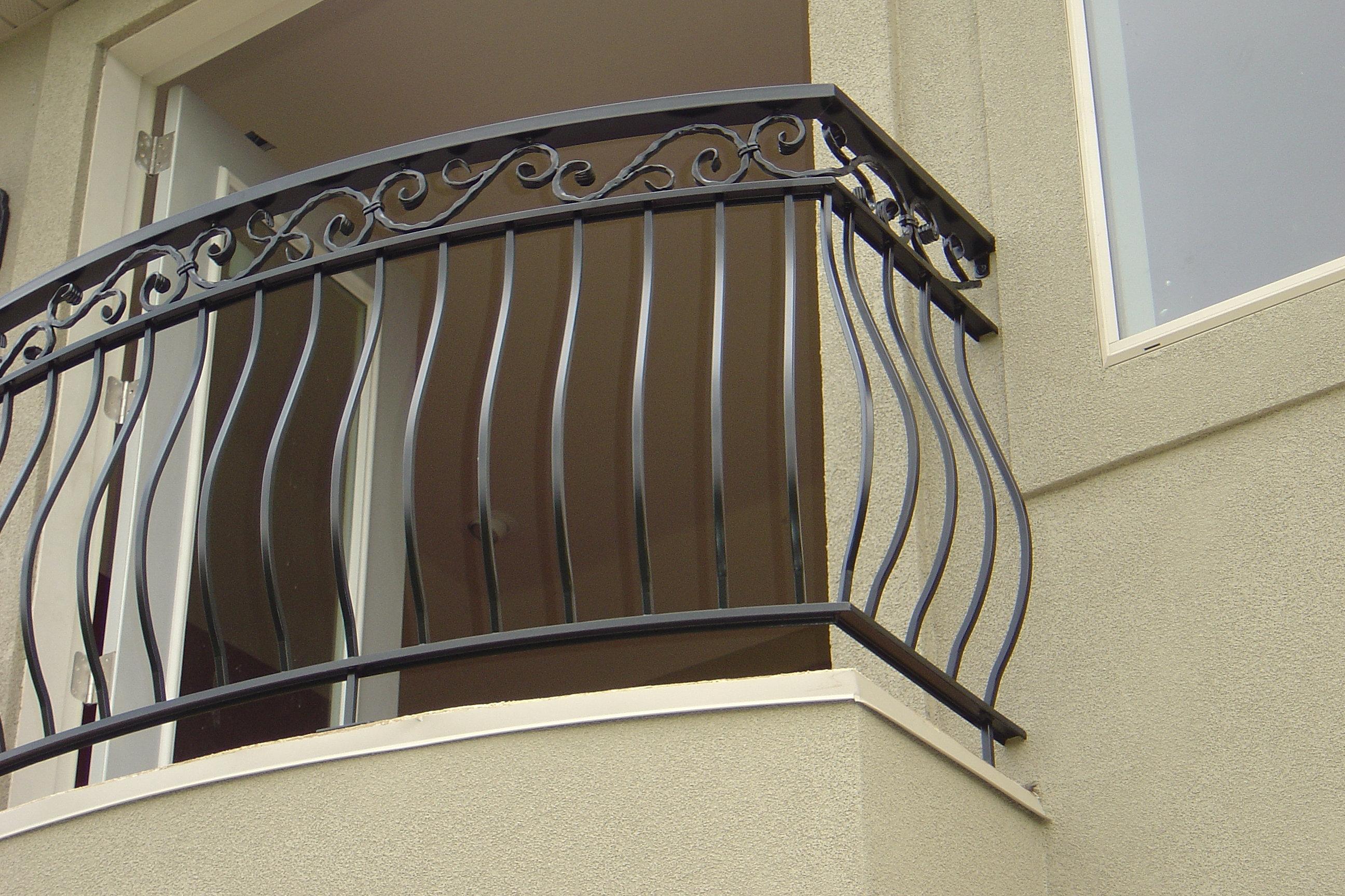 Ornamental iron panels - Ornamental Iron Balcony With Scrolls Jpg