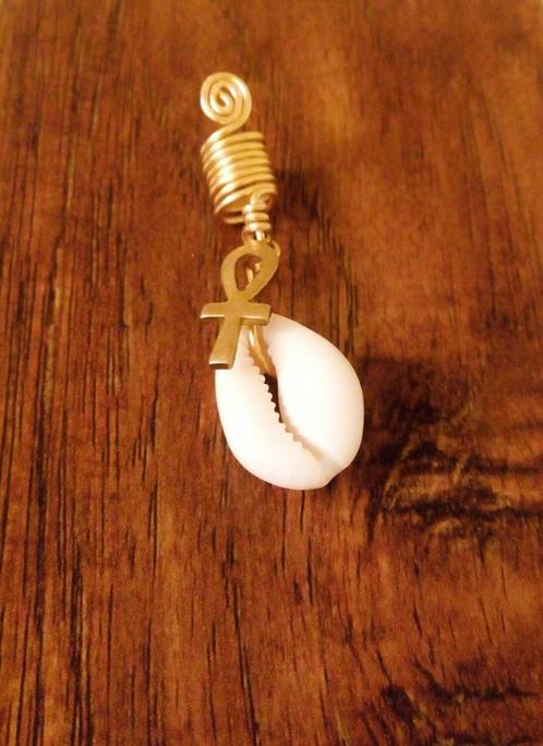 ankh cowrie shell loc accessory ankara kouture faux septum rings