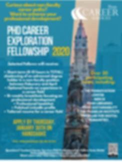 PhD Career Exploration Fellowship Flyer.