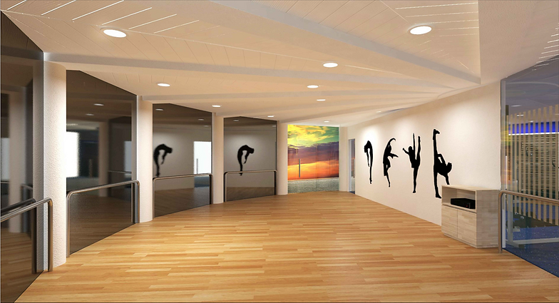 Dance studio interior design the image for Interior design studio