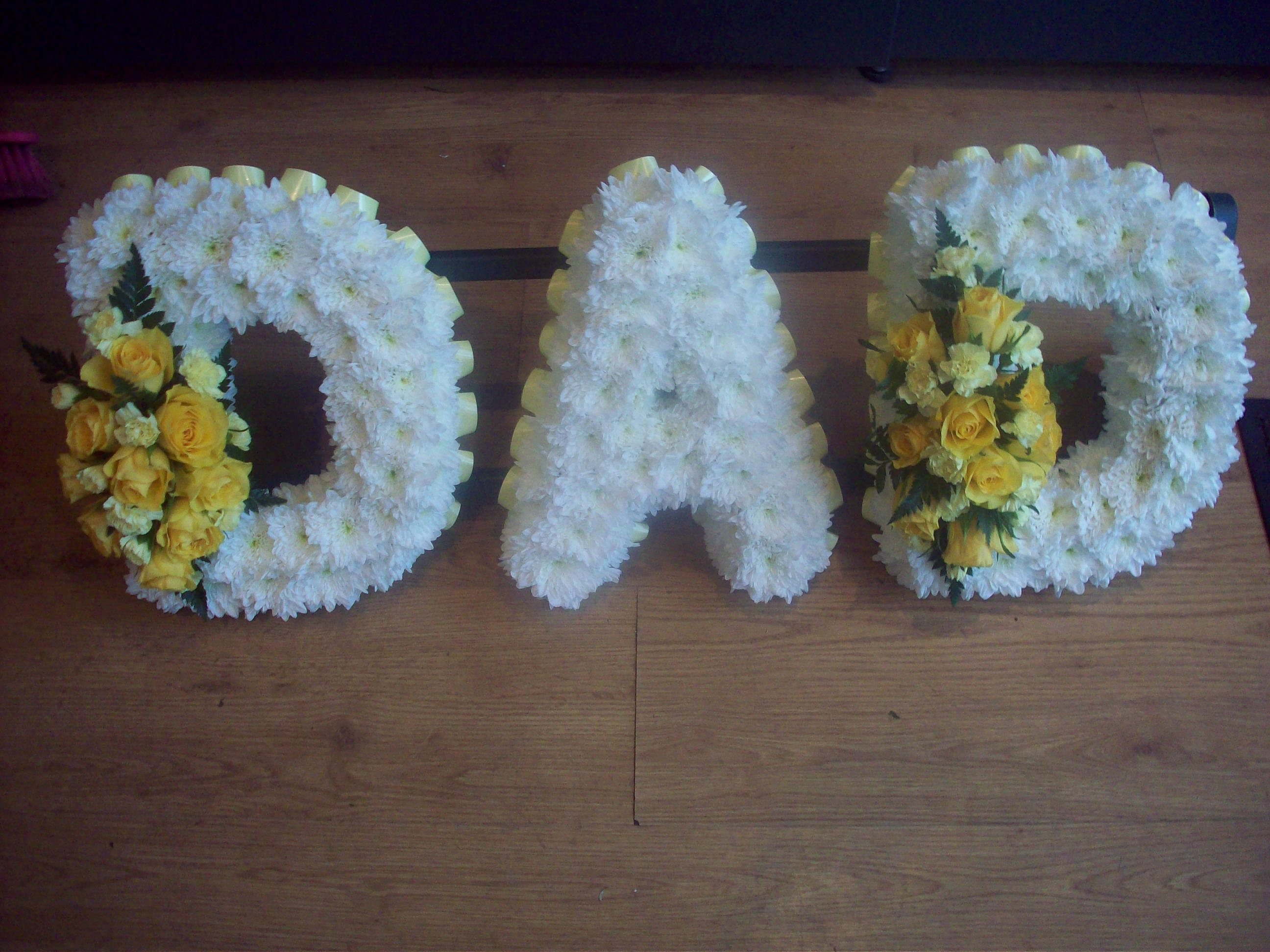 Karens Florist Wedding And Funeral Funeral Tribute Dad