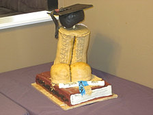Army Boots Grad Cake