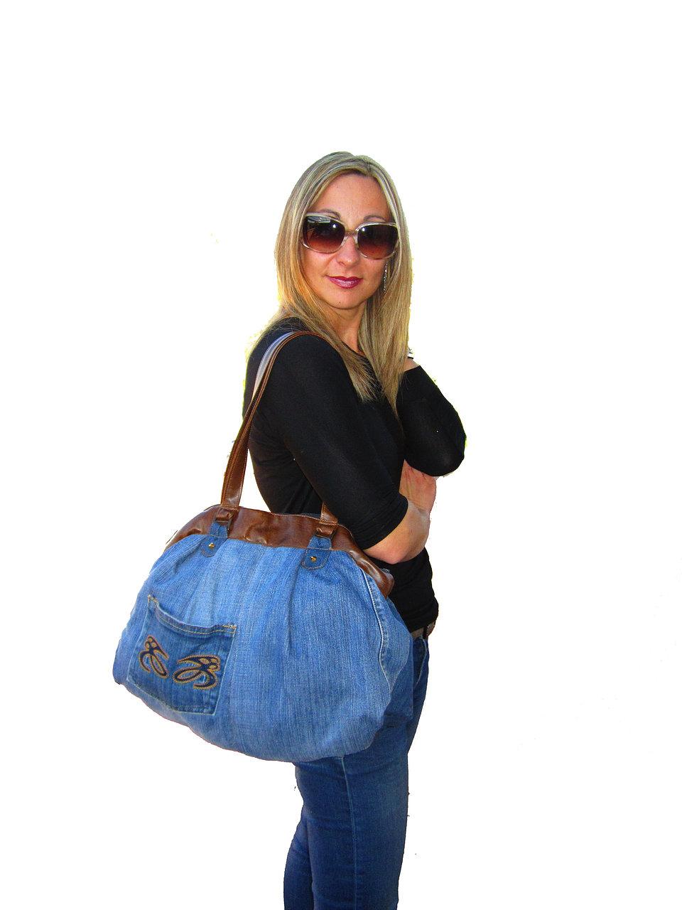 Borse Fatte A Mano Con I Jeans : Borse di elisa fatte a mano borsa jeans