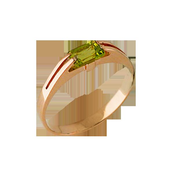 Каталог ювелирных украшений. Серьги, цепи, кольца. Кольцо с хризолитом
