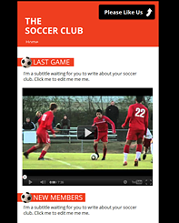 Soccer Club FB Template - Clean and fun this free template is waiting for you to take your organization to the next level.