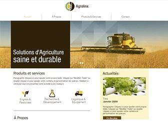 Exploitation Agricole Template - Cultivez présence en ligne et présentez votre entreprise agricole sur le web grâce à ce superbe template. Entièrement personnalisable, vous pouvez ajouter vos propres photos à la galerie diaporama et modifier des couleurs pour l'assortir à votre activité.
