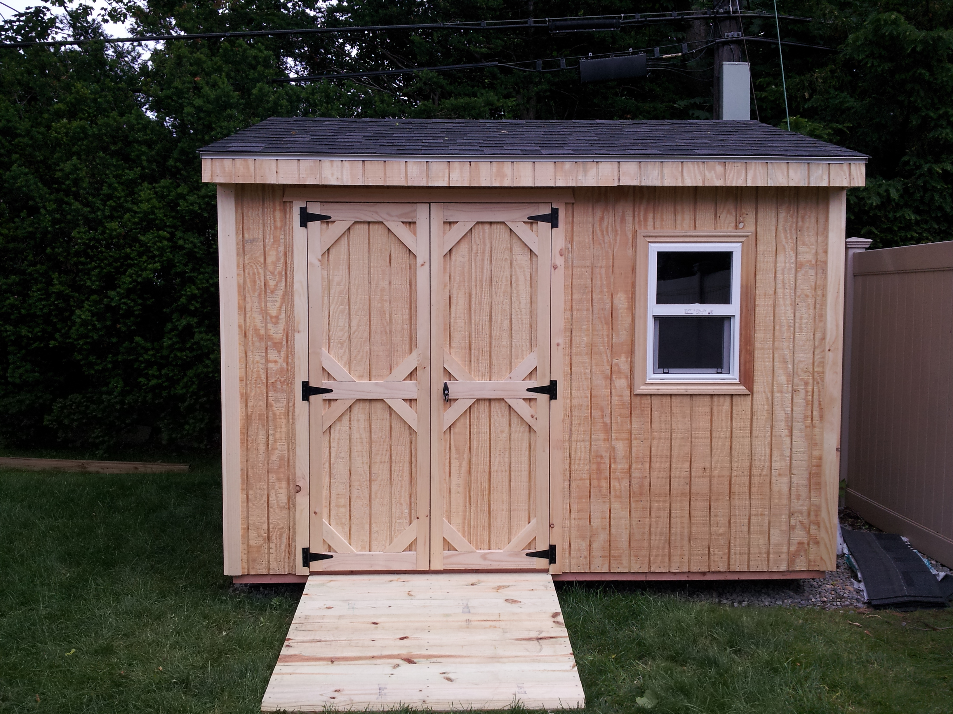 Shed World Of Long Island T 111 Exterior Grade Plywood Shed