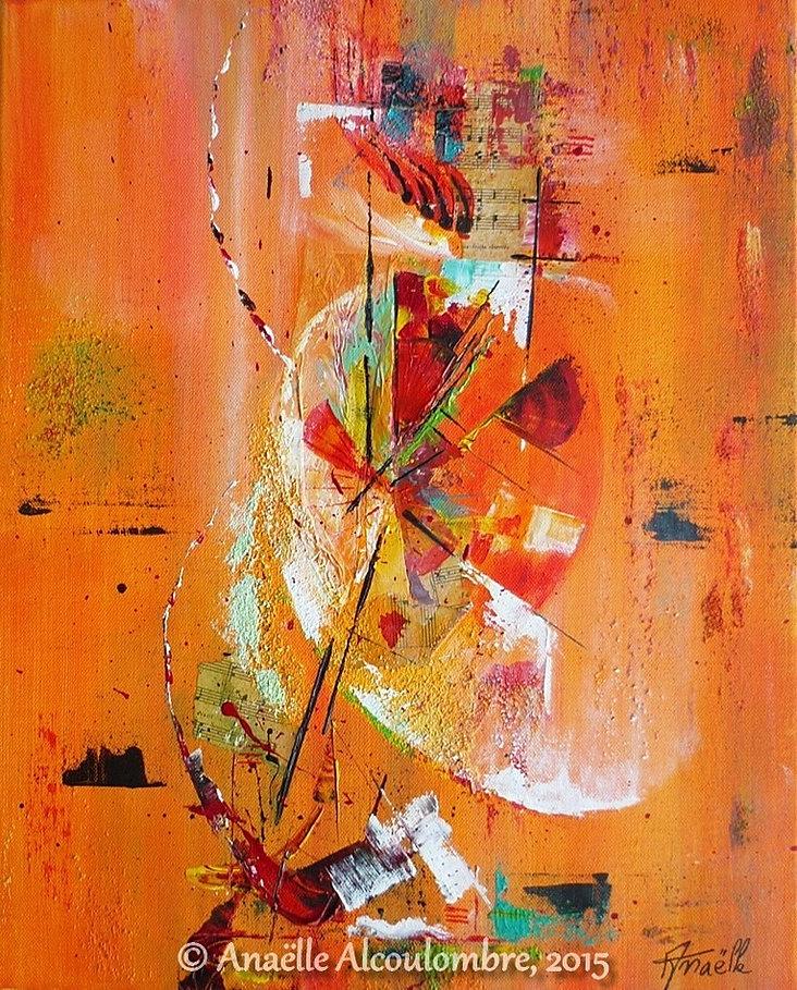 Galerie d 39 art abstrait peinture acrylique ana lle for Galerie art abstrait