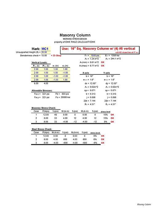 Get a Spreadsheet Masonry XLS Preview