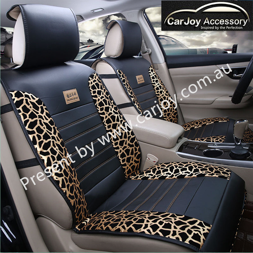 leopard print original universal car seat cover sydney car accessories interior exterior. Black Bedroom Furniture Sets. Home Design Ideas