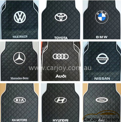 Luxury Latex Rubber Car Floor Mats With Logo Print