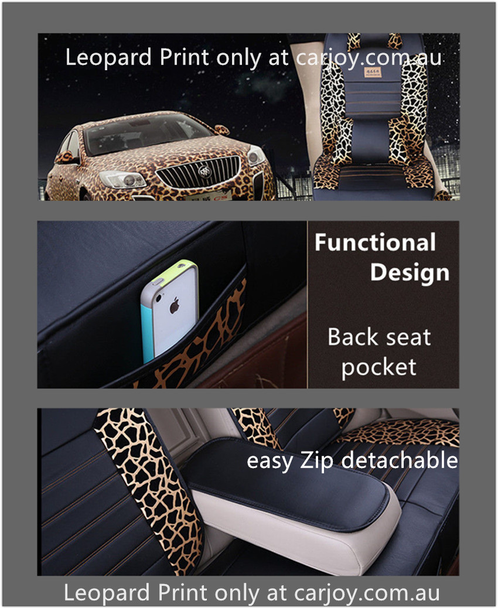 leopard print luxury universal car seat cover sydney car accessories interior exterior. Black Bedroom Furniture Sets. Home Design Ideas