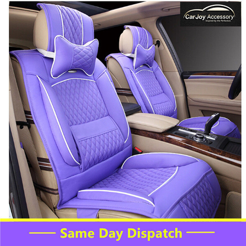 purple car seat cover for all 5 seats car leather sydney car accessories interior exterior. Black Bedroom Furniture Sets. Home Design Ideas