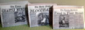 Sweeney Todd prop newspapers
