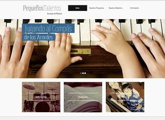 Escuela de música Template - Refleja los tonos de tu institución académica con esta plantilla para páginas web cálida e inspiradora. Con colores suaves y una galería atractiva, es el espacio perfecto para cualquier persona que quiera atraer la atención de estudiantes jóvenes. Carga fotos y edita el diseño para crear un sitio web profesional que represente a tu establecimiento académico.