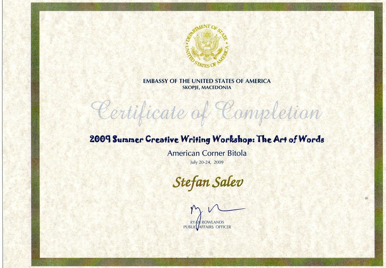 Creative writing diploma