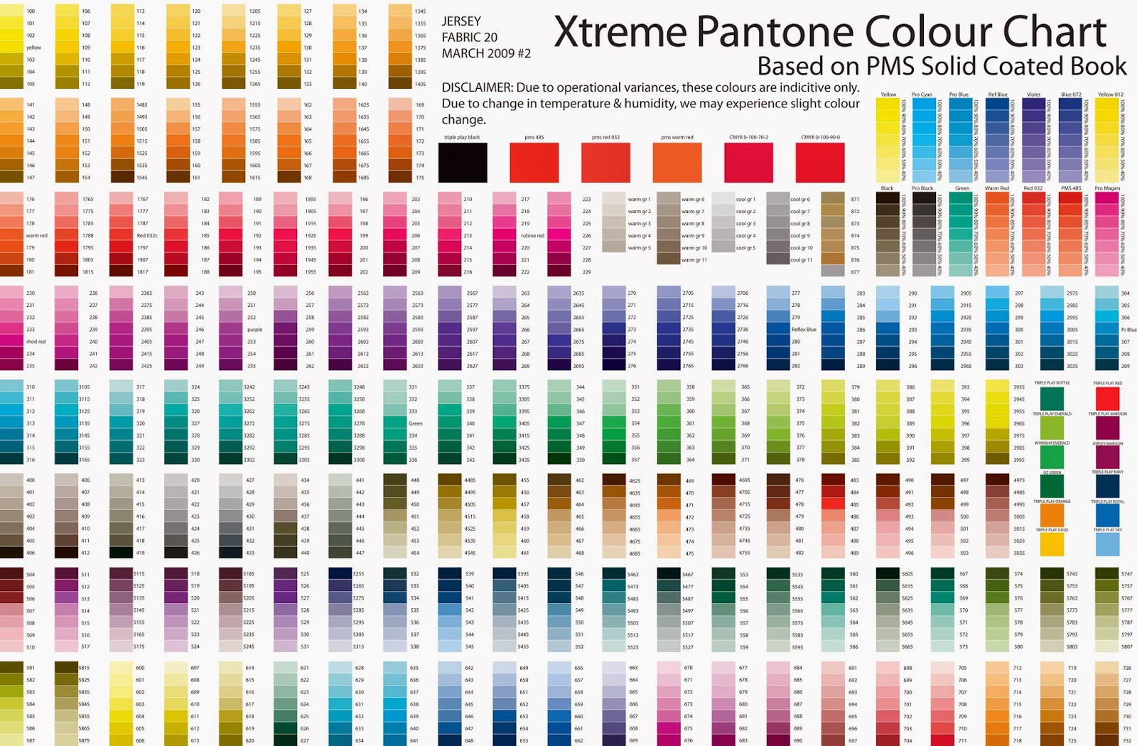 Connu Full Pantone Colour Chart | House Painters | Barrie Ontario | CB  BY61