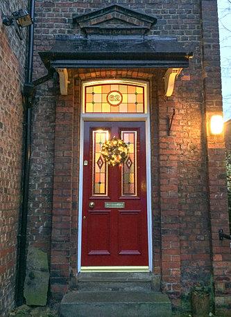 The Grand Victorian Wooden Front Door