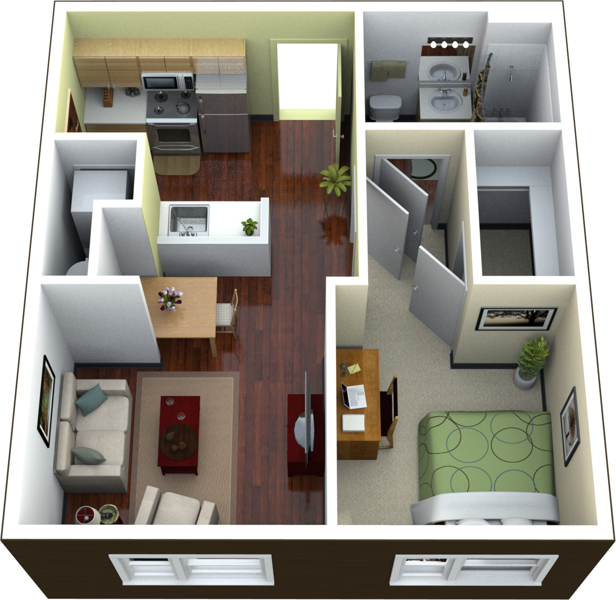 The Continuum Apartmentsone Bedroom Floor Plan Best One Bedroom Apartment Design Youtube