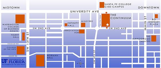 The Continuum Apartments Gainesville UF - Uf camp us map