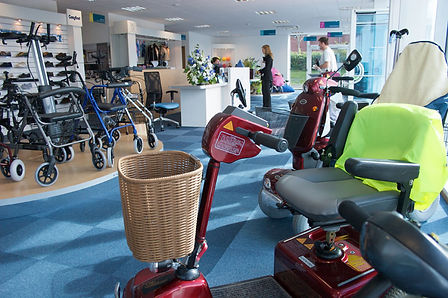 The Indy mobility aids and disabled aids showroom in Evesham Worcestershire