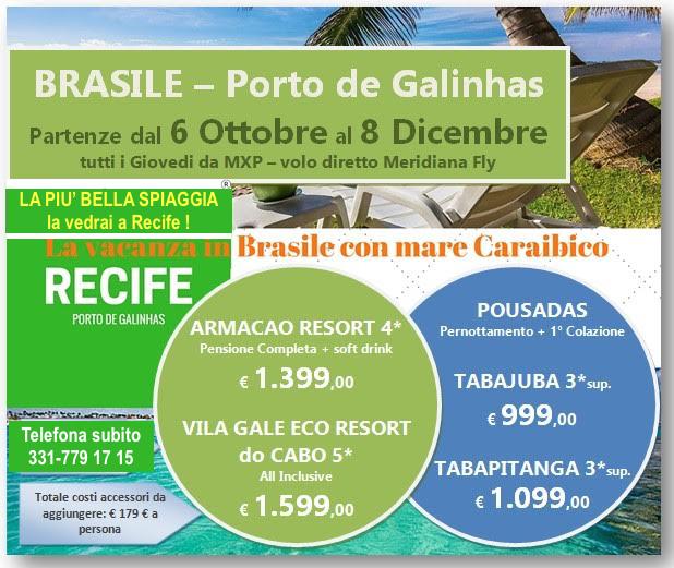 Il nuovo charter per un mare da Caraibi: Porto de Galinhas!