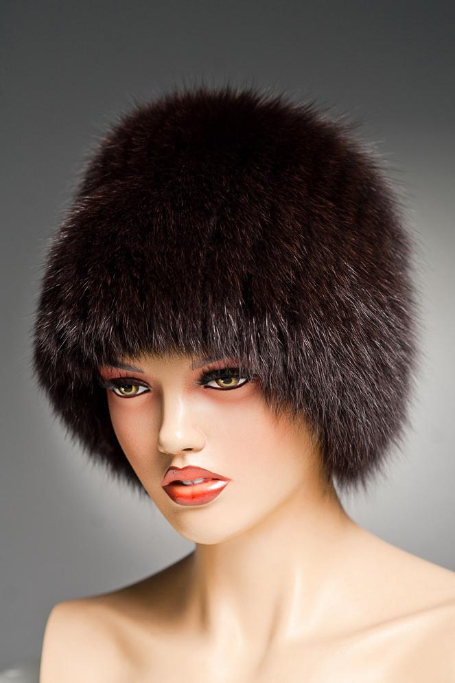 Женские серебрянные меховые шапки песцовые 2015 в Николаеве