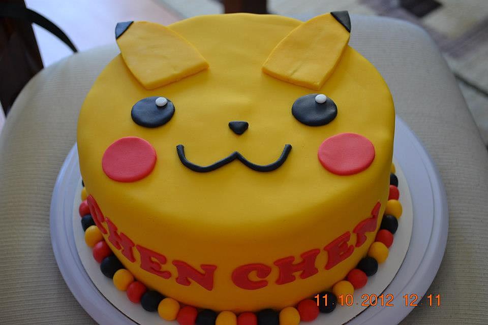 Pikachu Chocolate Cake