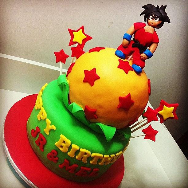 MattyEatsCakes Dragon Ball Z Birthday Cake