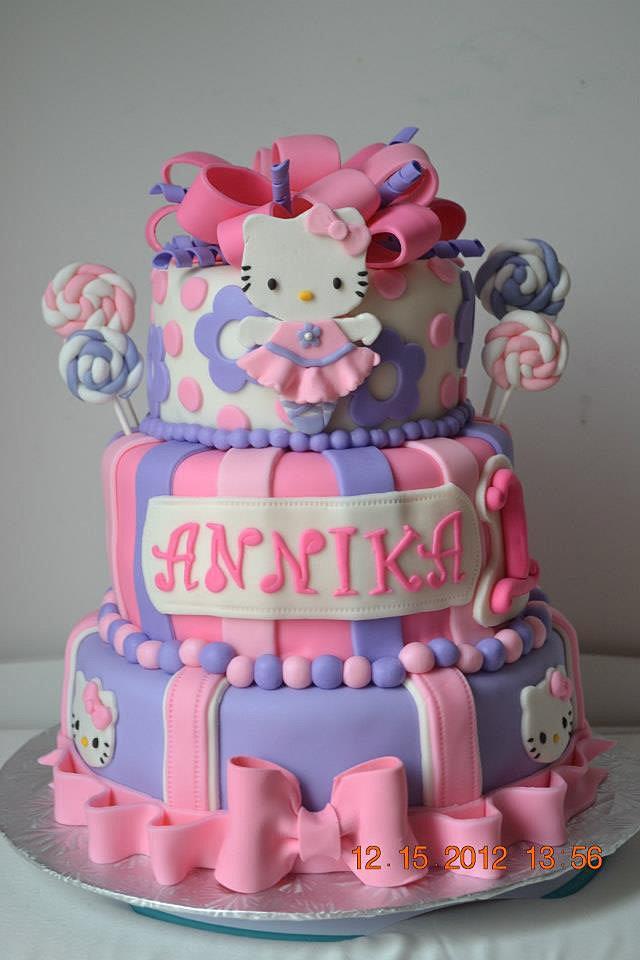 Hello Kitty 1st Birthday Cake Ideas Image Inspiration of Cake