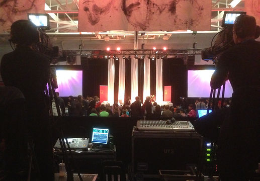 Camera operators for corporate event IMAG