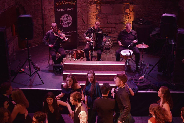 HotScotch Ceilidh Band playing in Edinburgh for a ceilidh in the Caves