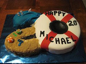 life guard cake