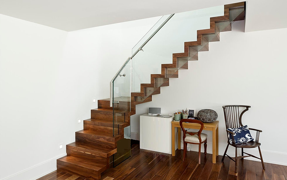 double cantilevered staircase bespoke glass staircase