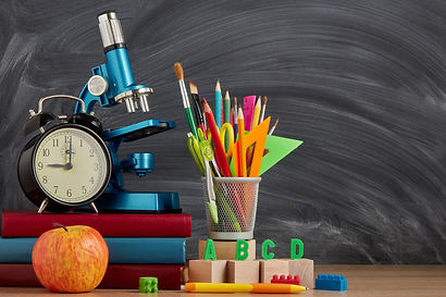 Still life with stationery accessories,