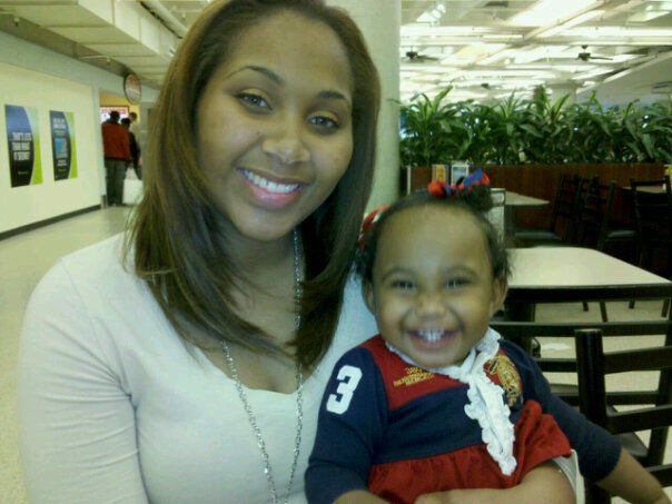 me and angel in mall