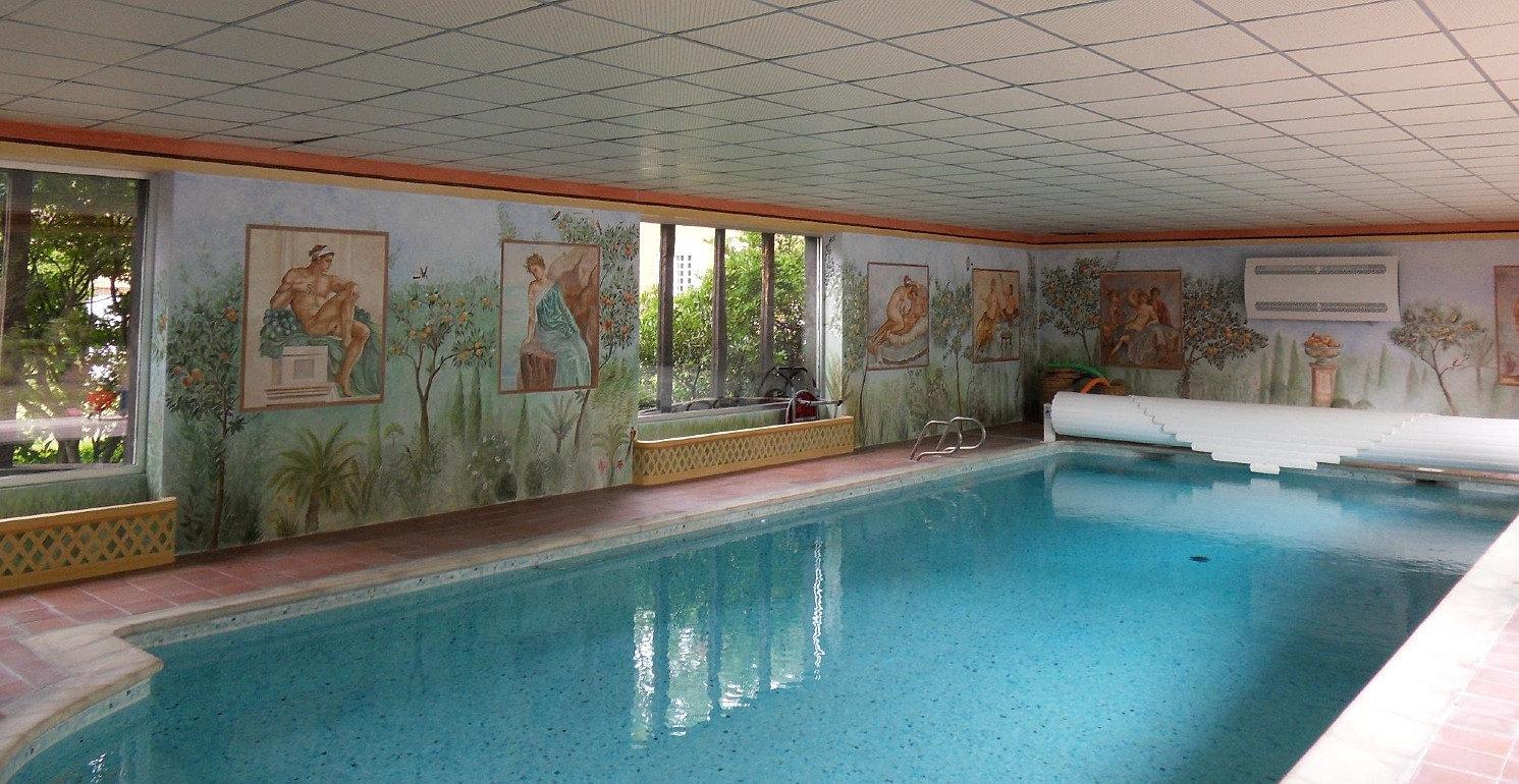 Annie taillemite fresque aquarelle peintre huile for Piscine 3 05 x 1 22