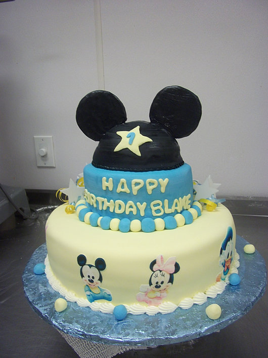 Mickey Mouse Ears Cake!