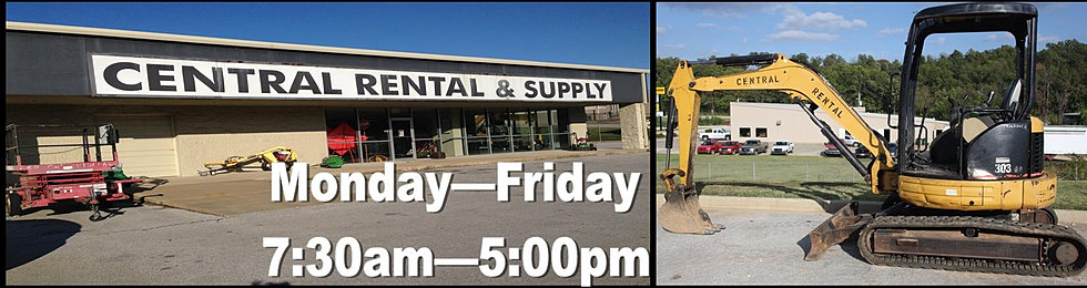 Harrison, AR tool and equipment rental, Central Rental and Supply