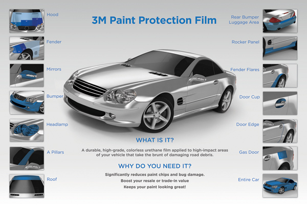 "6/""x30/"" XPEL Ultimate Paint Protection Clear Bra Protects Car Paint Job!"