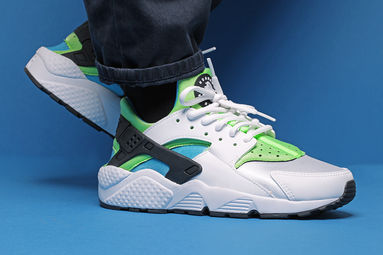 Nike Huarache Blancas Y Verdes