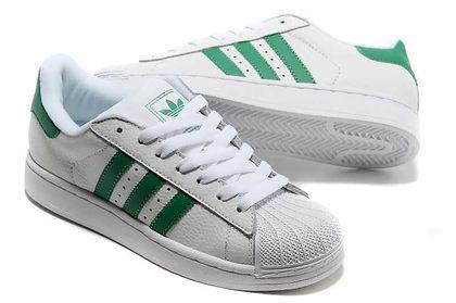 Superstar Blanco Con Verde