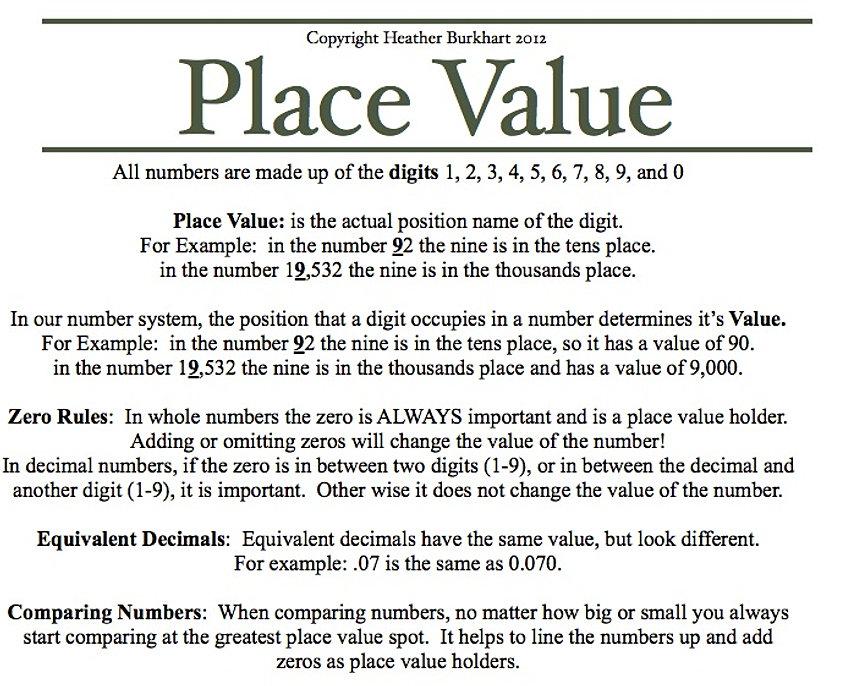 Place Value Worksheets » Place Value Worksheets With Zeros ...