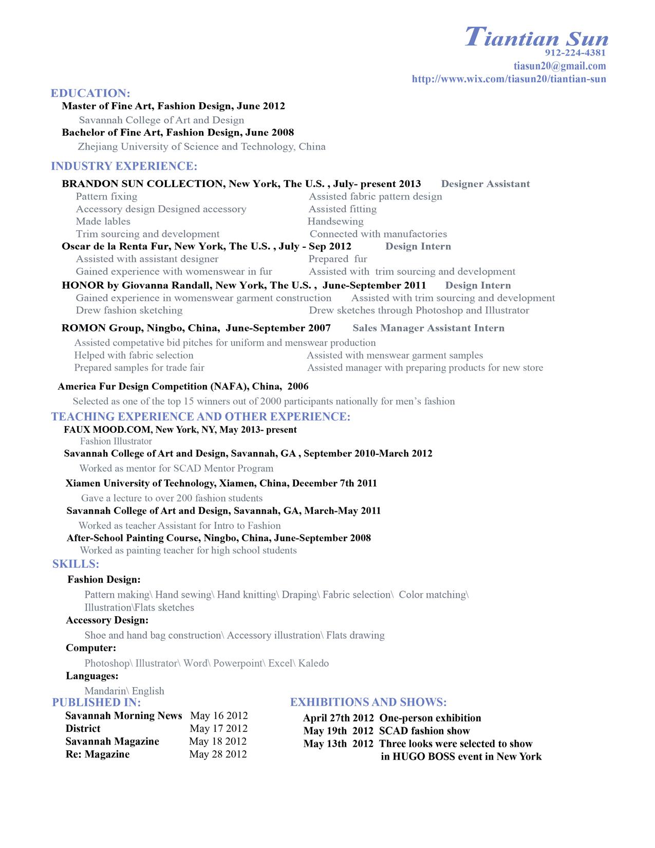 sample fashion resume resume cv cover letter