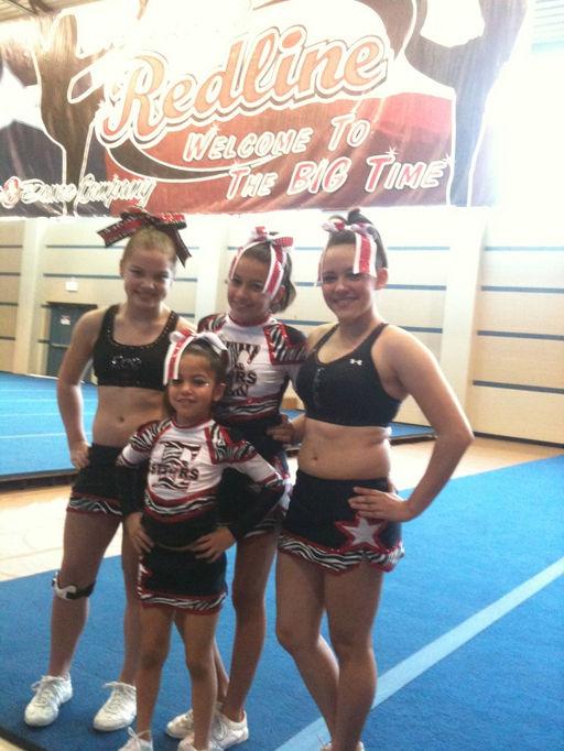 ECS Individual Best Cheerleader. Kylee, Karla, Natali & Carissa