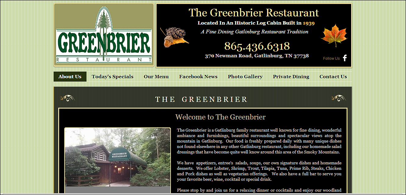 greenbrier restaurant