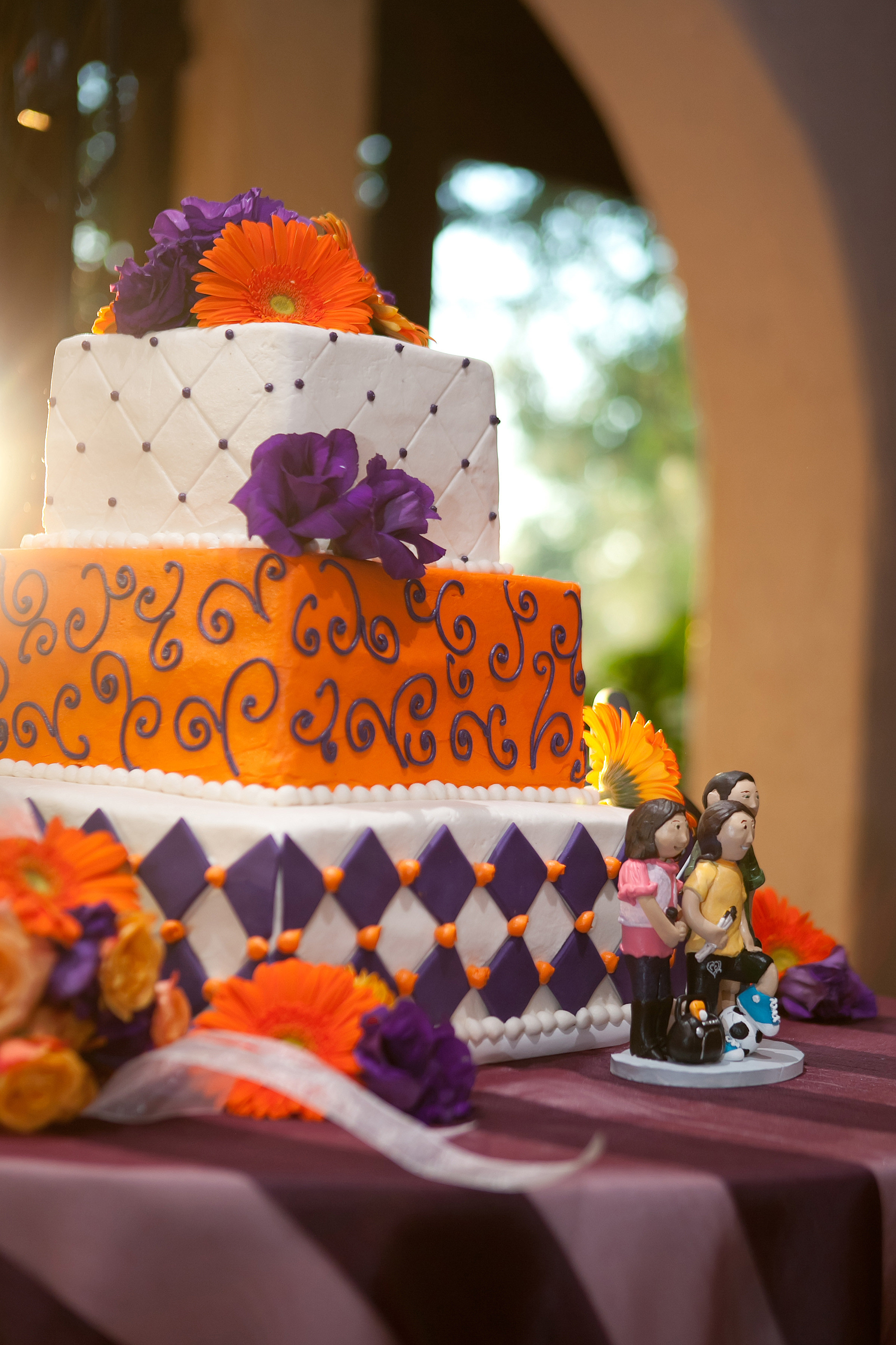 Images Of Cake With Orange And Purple